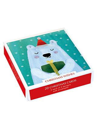 museums galleries christmas wishes cards pack of 20 - Christmas Card Packs