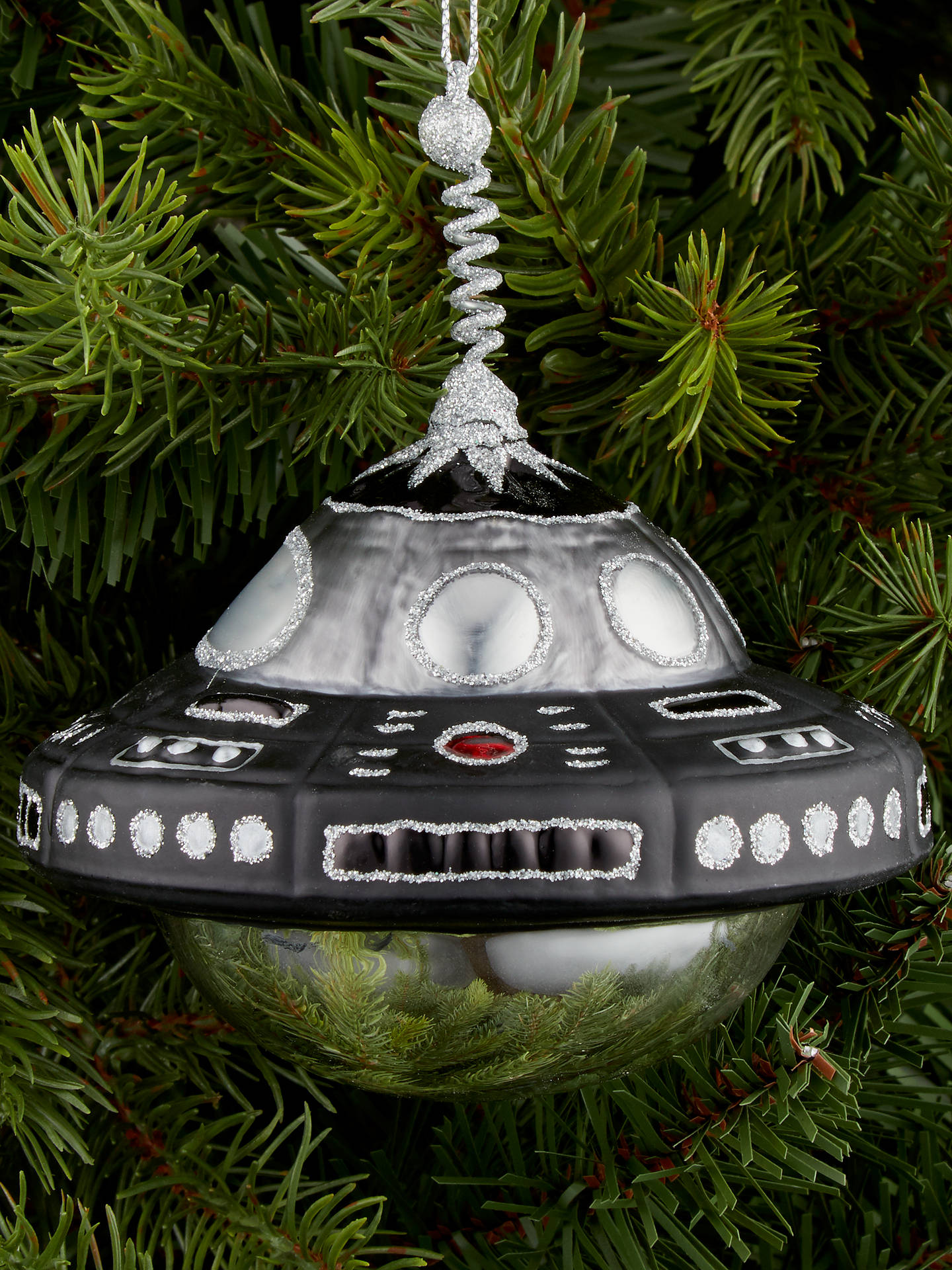 BuyJohn Lewis & Partners Jet UFO Tree Decoration, Black / White Online at johnlewis.com