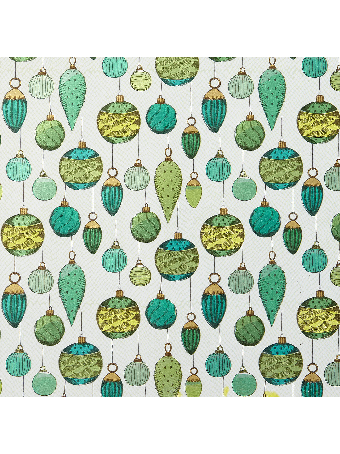 BuyJohn Lewis & Partners Emerald Baubles Gift Wrap, 3m Online at johnlewis.com