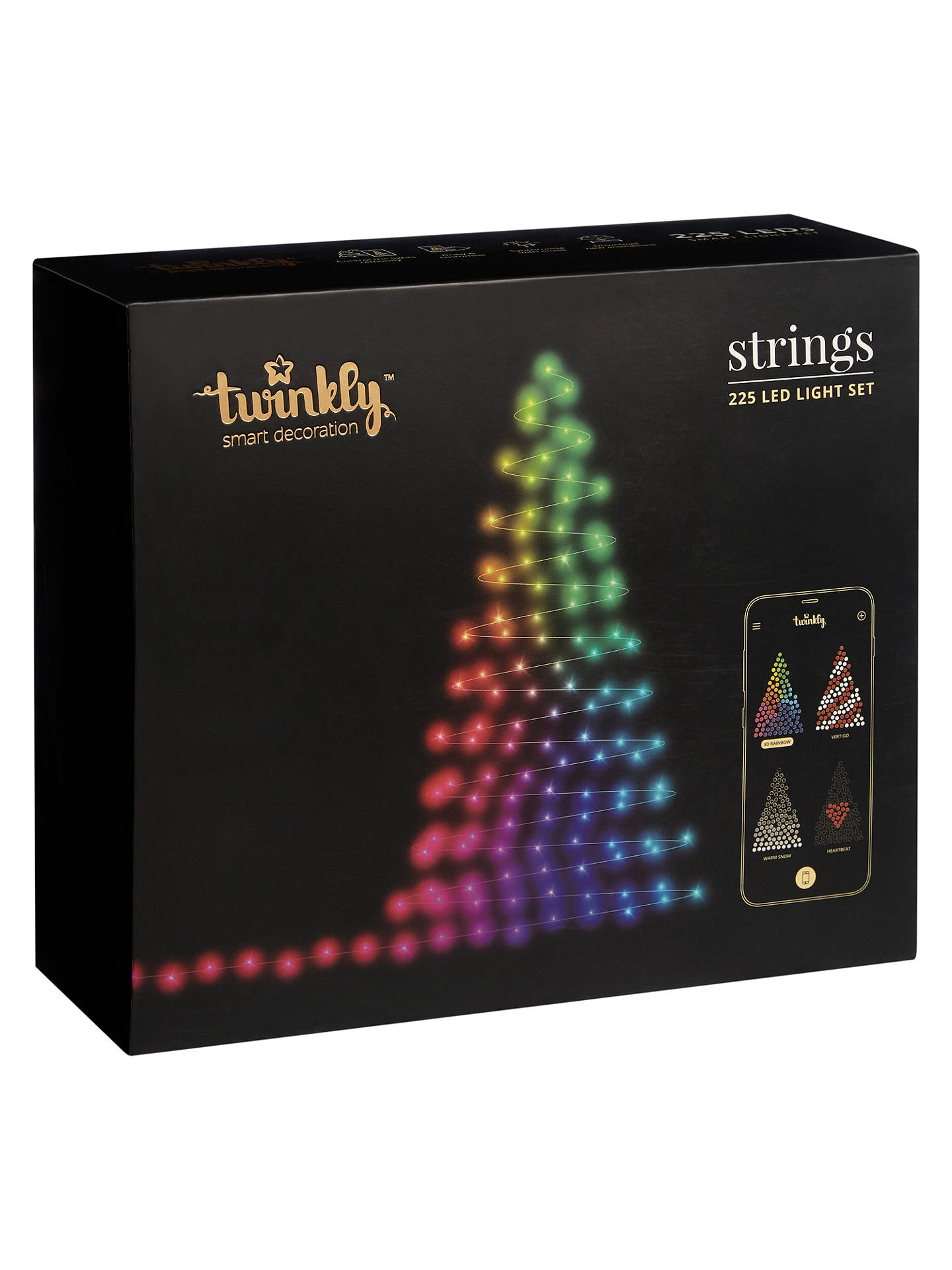 ... BuyTwinkly App-Controlled LED Christmas Tree Lights Multi, L22.5m Online at johnlewis ...