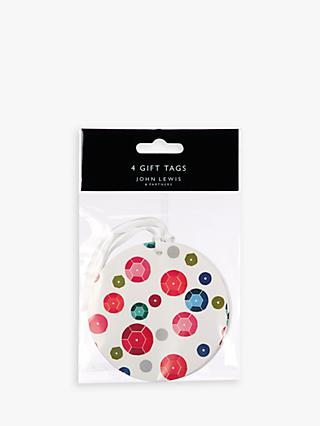 John Lewis & Partners Rainbow Gift Tags, Pack of 4