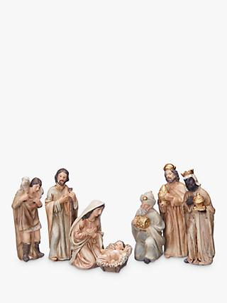 John Lewis & Partners Traditional Nativity Characters, Set of 7