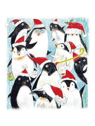 Buy Cardmix Flittered Christmas Penguins Christmas Cards, Pack of 5 Online at johnlewis.com