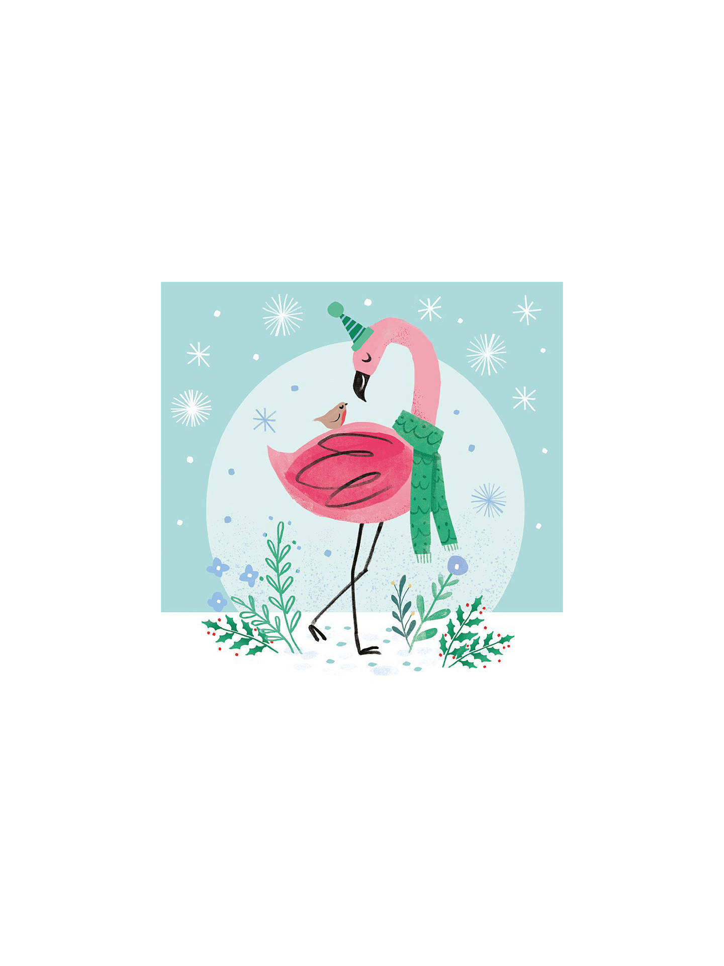 Flamingo Christmas Cards.Museums Galleries Winter Flamingo Charity Christmas Cards Pack Of 8