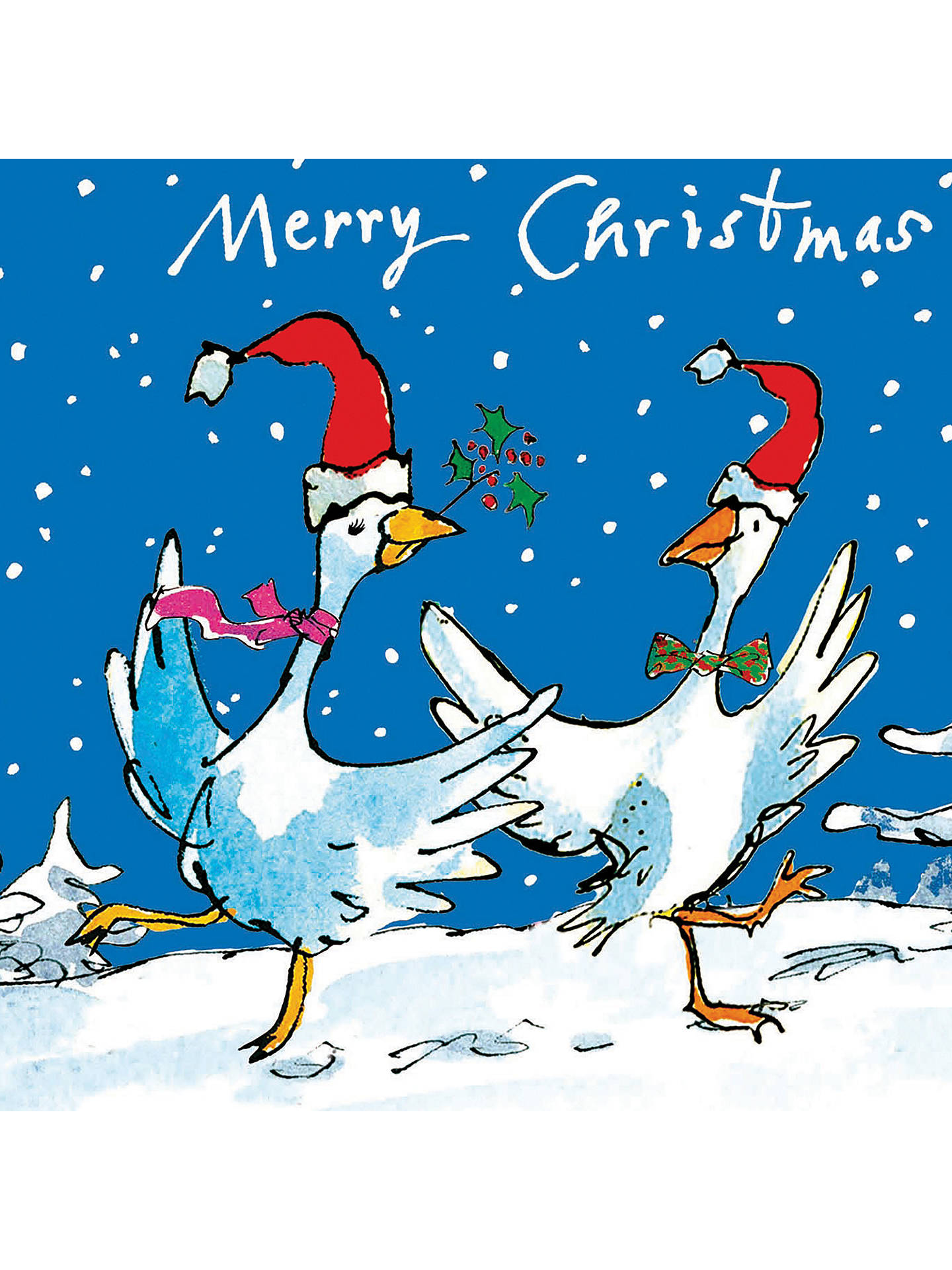 Woodmansterne Quentin Blake Christmas Ducks Charity Christmas Cards ...