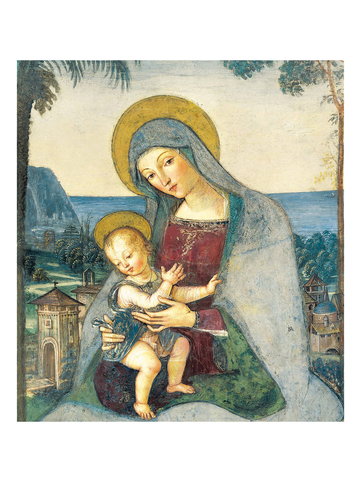 Woodmansterne Madonna and Child Charity Christmas Cards, Pack of 5 ...