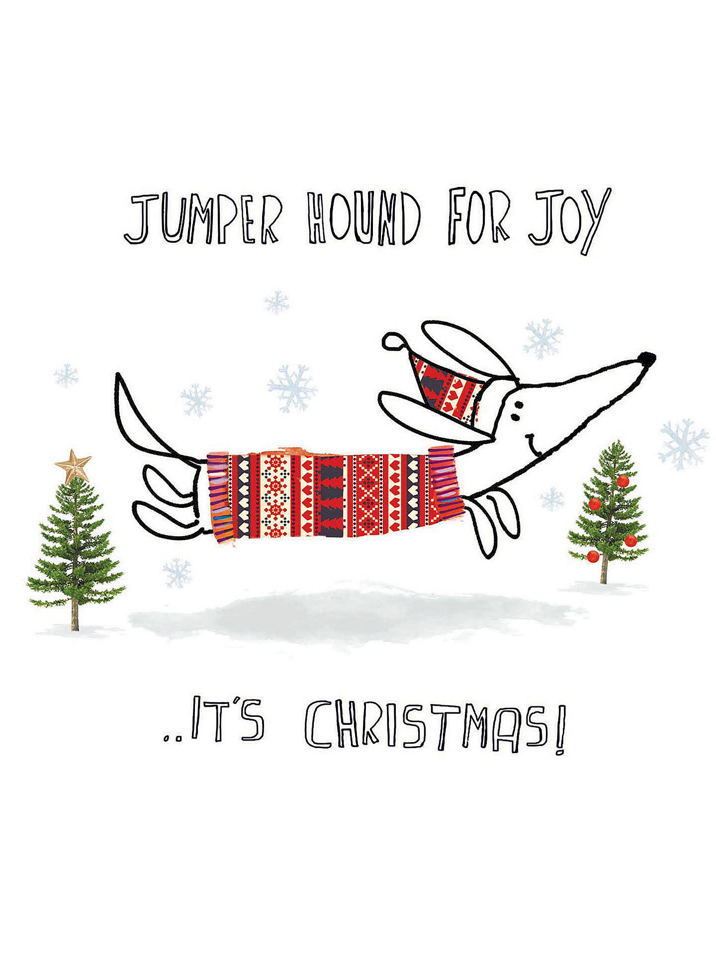 Woodmansterne Jumper Hound Charity Christmas Cards, Pack of 5 at ...