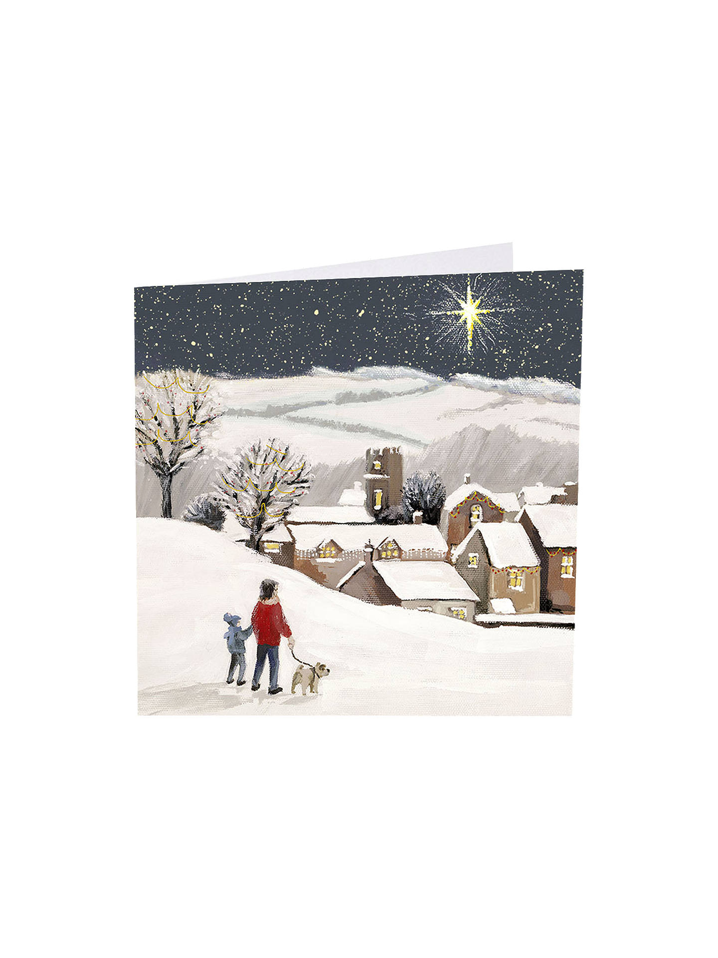 BuyArt Market Shining Bright A-Laying Christmas Cards, Assorted, Pack of 6 Online at johnlewis.com