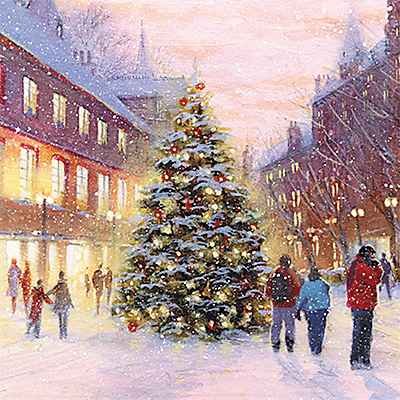 Image of The Almanac Gallery Christmas Eve Christmas Cards, Pack of 8