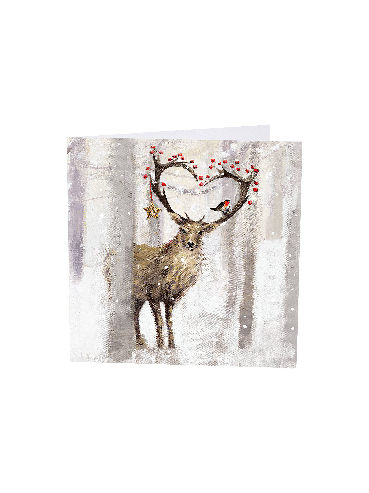 BuyArt Marketing Painted Deer Christmas Cards, Pack of 6 Online at johnlewis.com