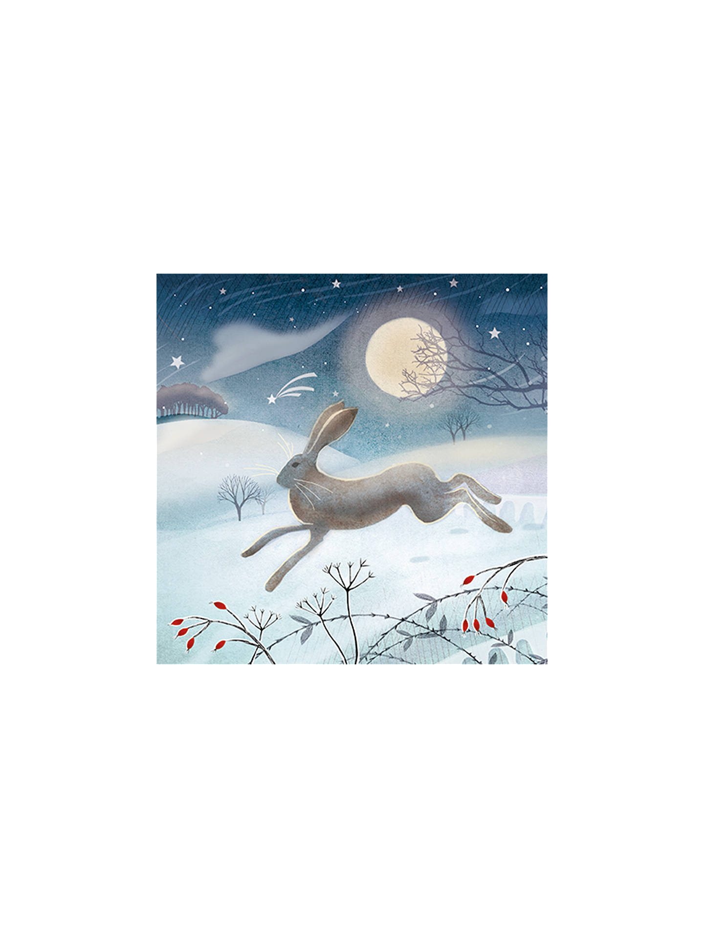 Buy The Almanac Gallery Leaping Hare Christmas Cards, Pack of 8 Online at johnlewis.com