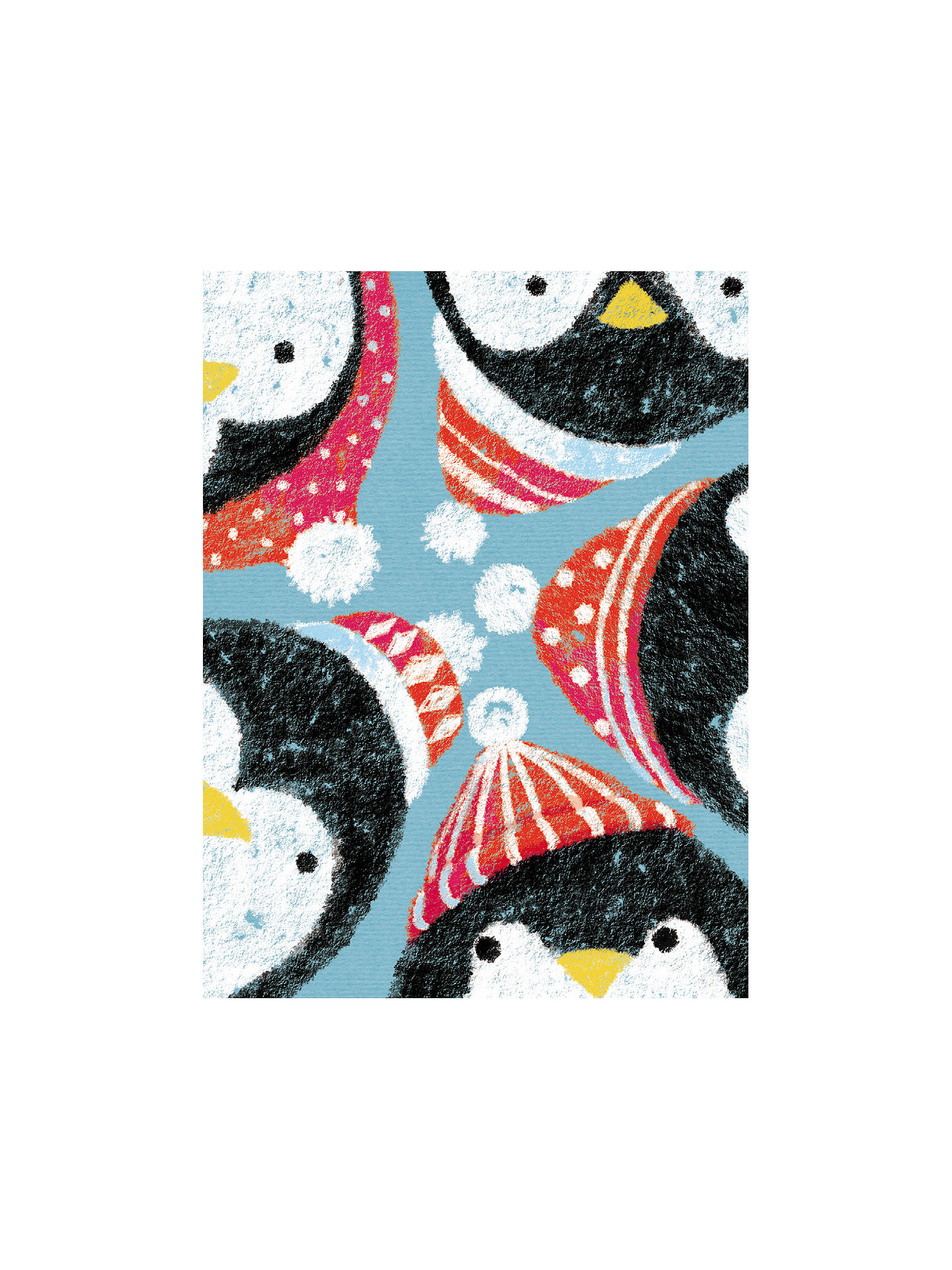 The Almanac Gallery Peeking Penguins Christmas Cards, Pack of 6 at ...