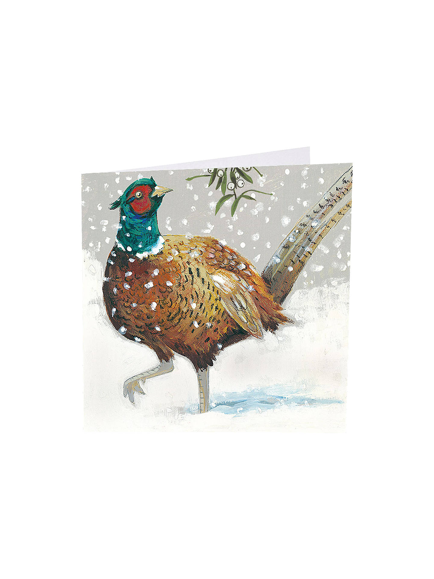 BuyArt Market Festive Feathers Christmas Cards, Assorted, Pack of 6 Online at johnlewis.com