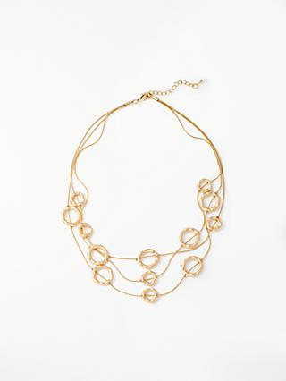 John Lewis & Partners Circle Layered Necklace, Gold