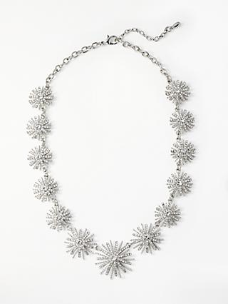 John Lewis & Partners Crystal Star Collar Necklace, Silver