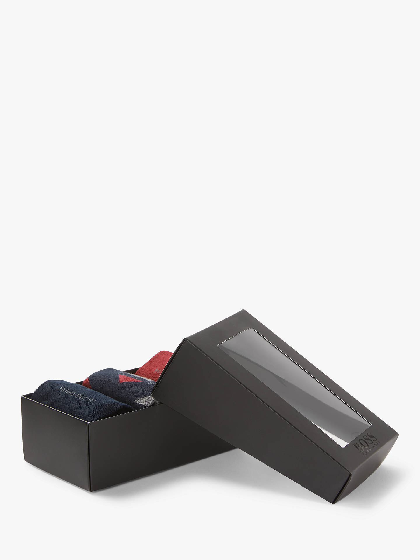 BuyBOSS Sock Gift Set, One Size, Pack of 3, Black/Red Online at johnlewis.com