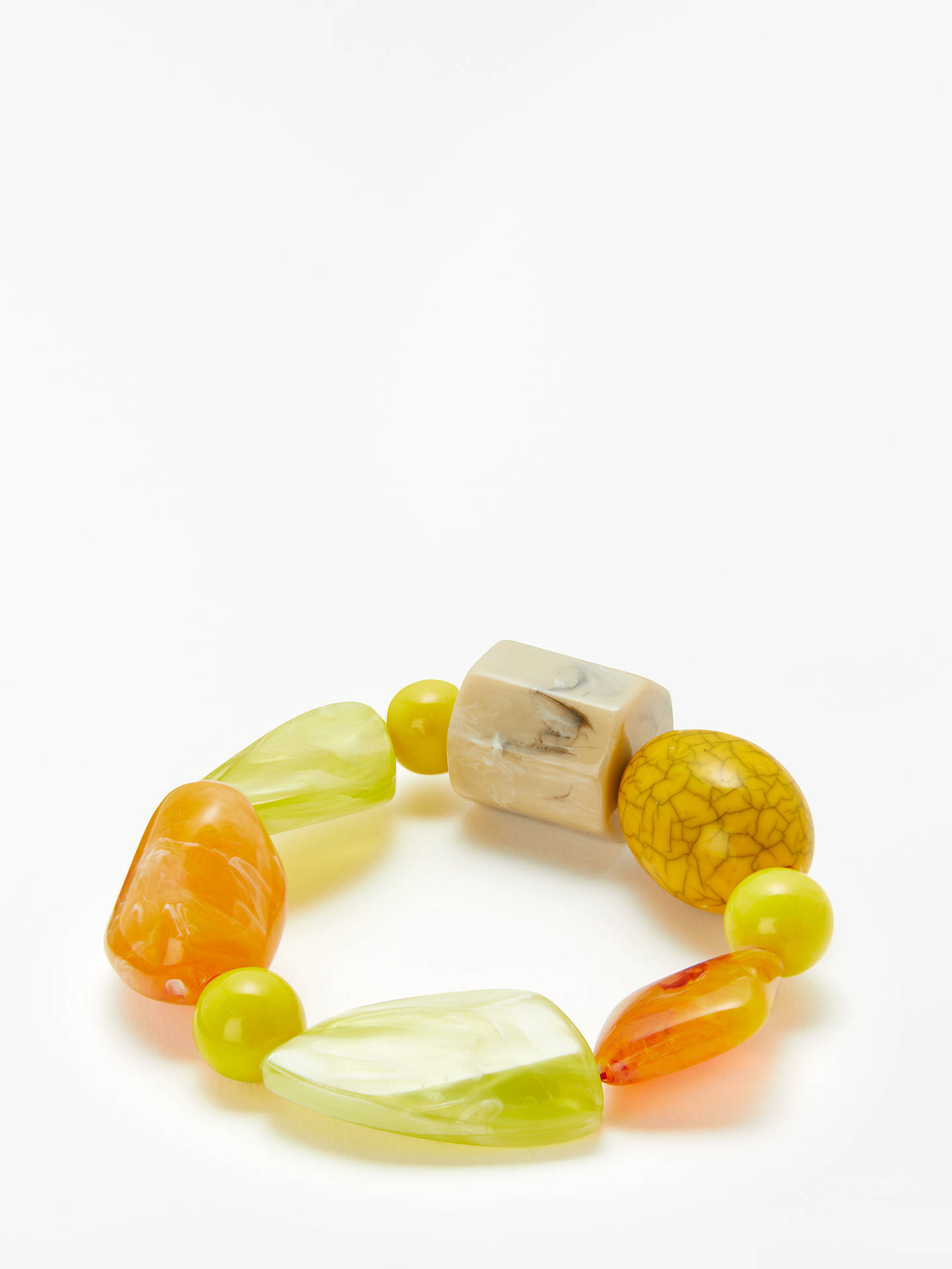 BuyJohn Lewis & Partners Geometric Bead Stretch Bracelet, Multi Online at johnlewis.com