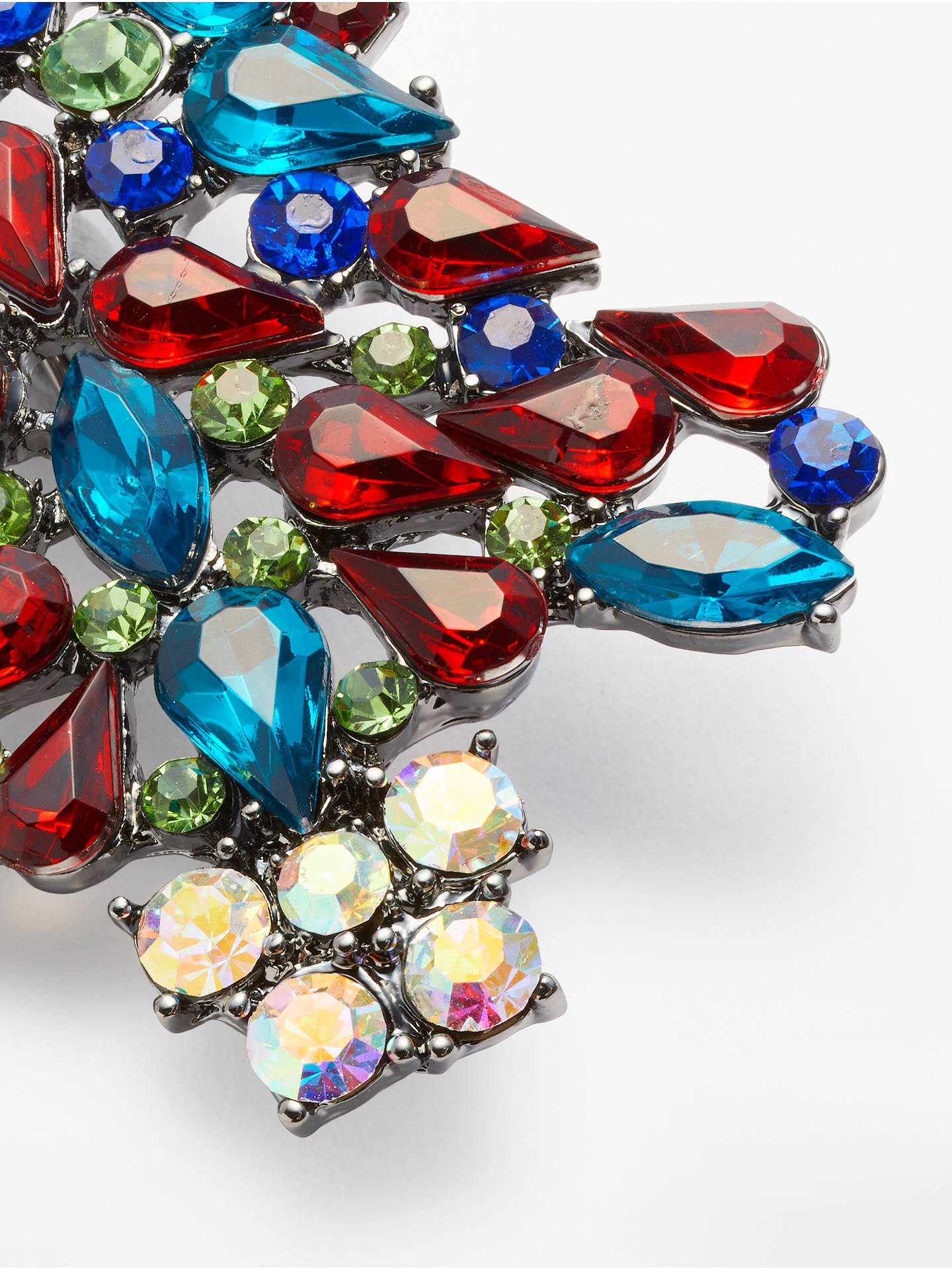 Buy John Lewis & Partners Christmas Tree Crystal Brooch, Multi Online at johnlewis.com