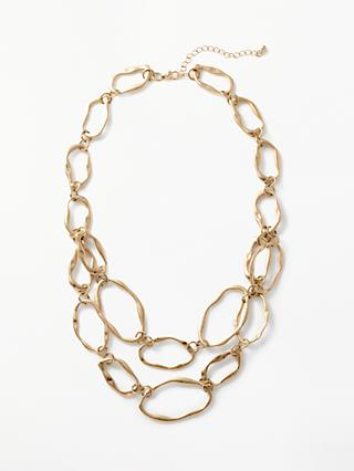 John Lewis & Partners Organic Shape Layered Necklace, Gold