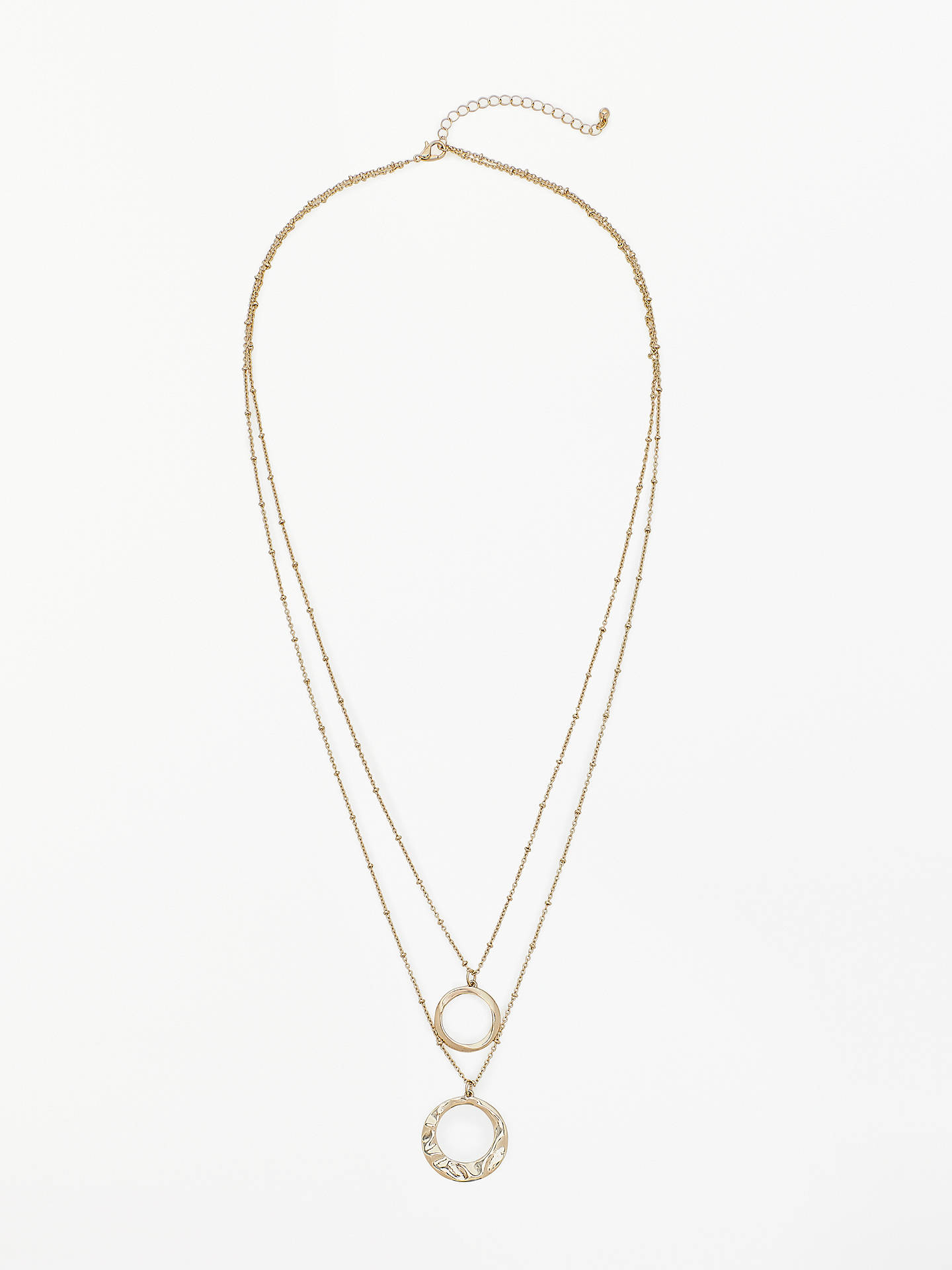 BuyJohn Lewis & Partners Double Layer Bubble Pendant Necklace, Gold Online at johnlewis.com