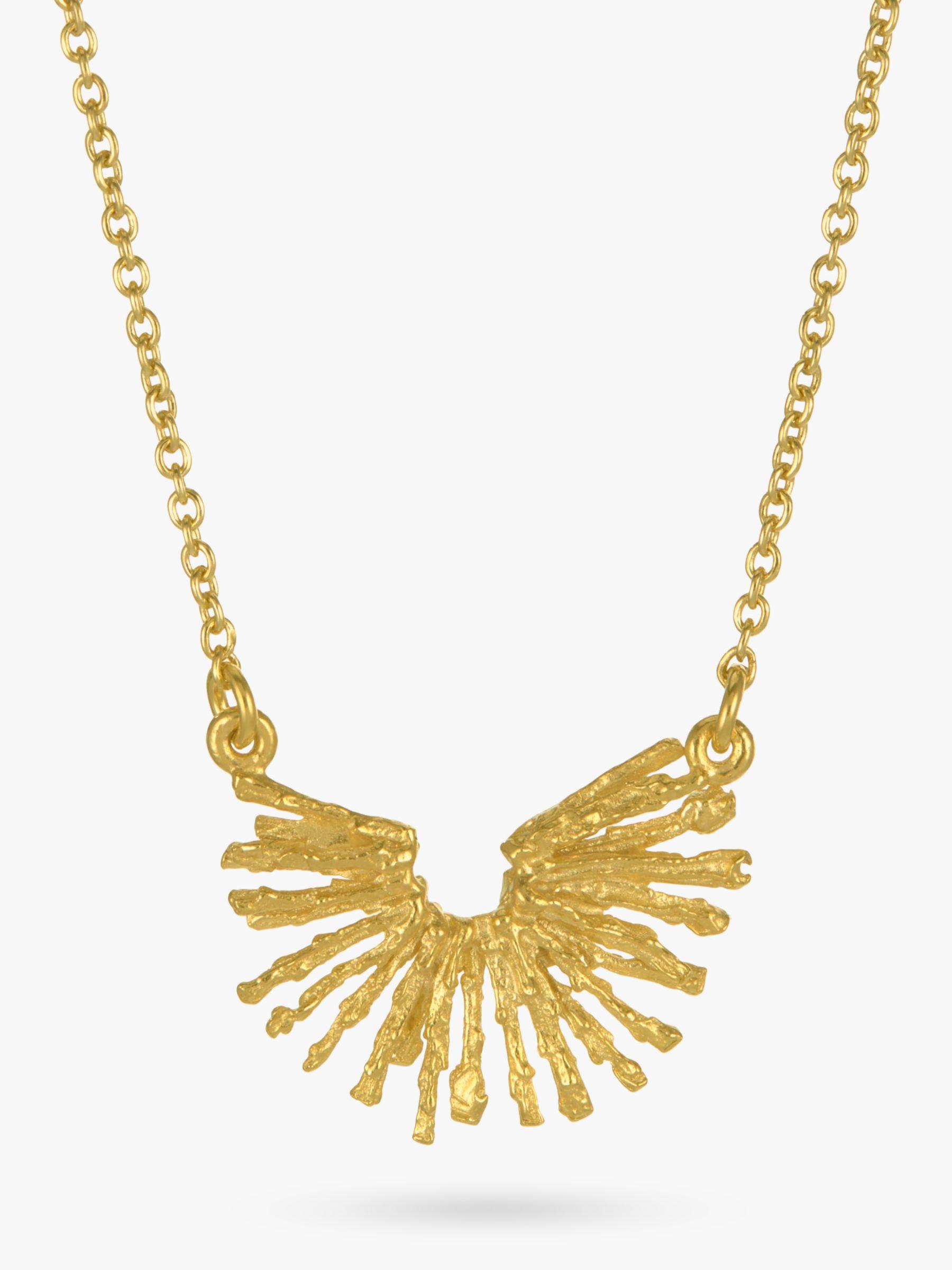 Alex Monroe Alex Monroe 22ct Gold Plated Nest Structure Necklace