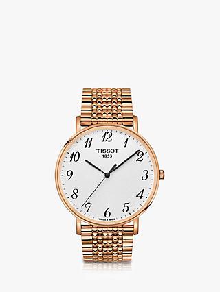3e4bab011 Tissot T1096103303200 Unisex Everytime Bracelet Strap Watch, Rose Gold/White
