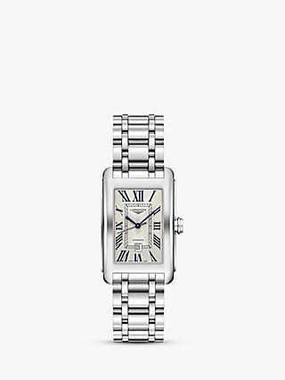 0568f4670d2 Longines L57574716 Men's Dolce Vita Automatic Date Bracelet Strap Watch,  Silver