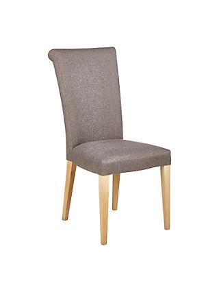 Dining Chairs Wooden Leather Fabric Dining Chairs John Lewis - Curves-button-back-chair-in-chocolate-brown-and-green