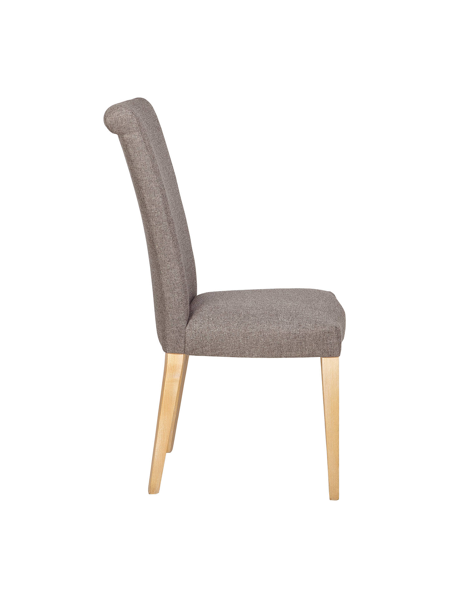 Buy John Lewis & Partners Evelyn High Back Upholstered Dining Chair, Vietto Grey, FSC-Certified (Ash) Online at johnlewis.com