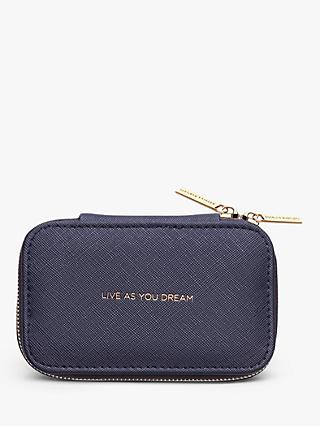 Estella Bartlett Live as You Dream Zipped Jewellery Box, Navy