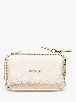 Estella Bartlett Dream Big Zipped Jewellery Box, Gold