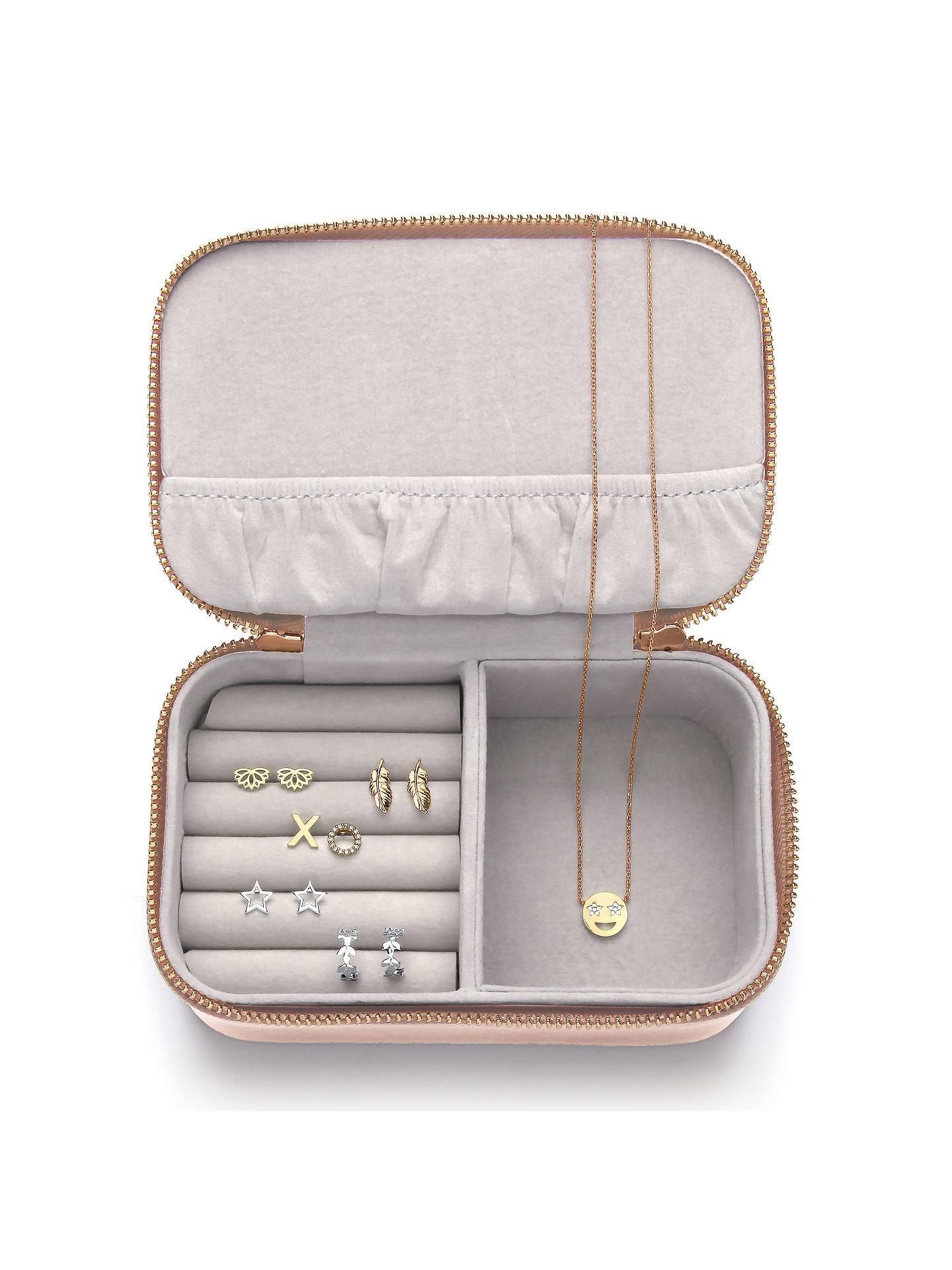Estella Bartlett Treasure Me Zipped Jewellery Box Blush