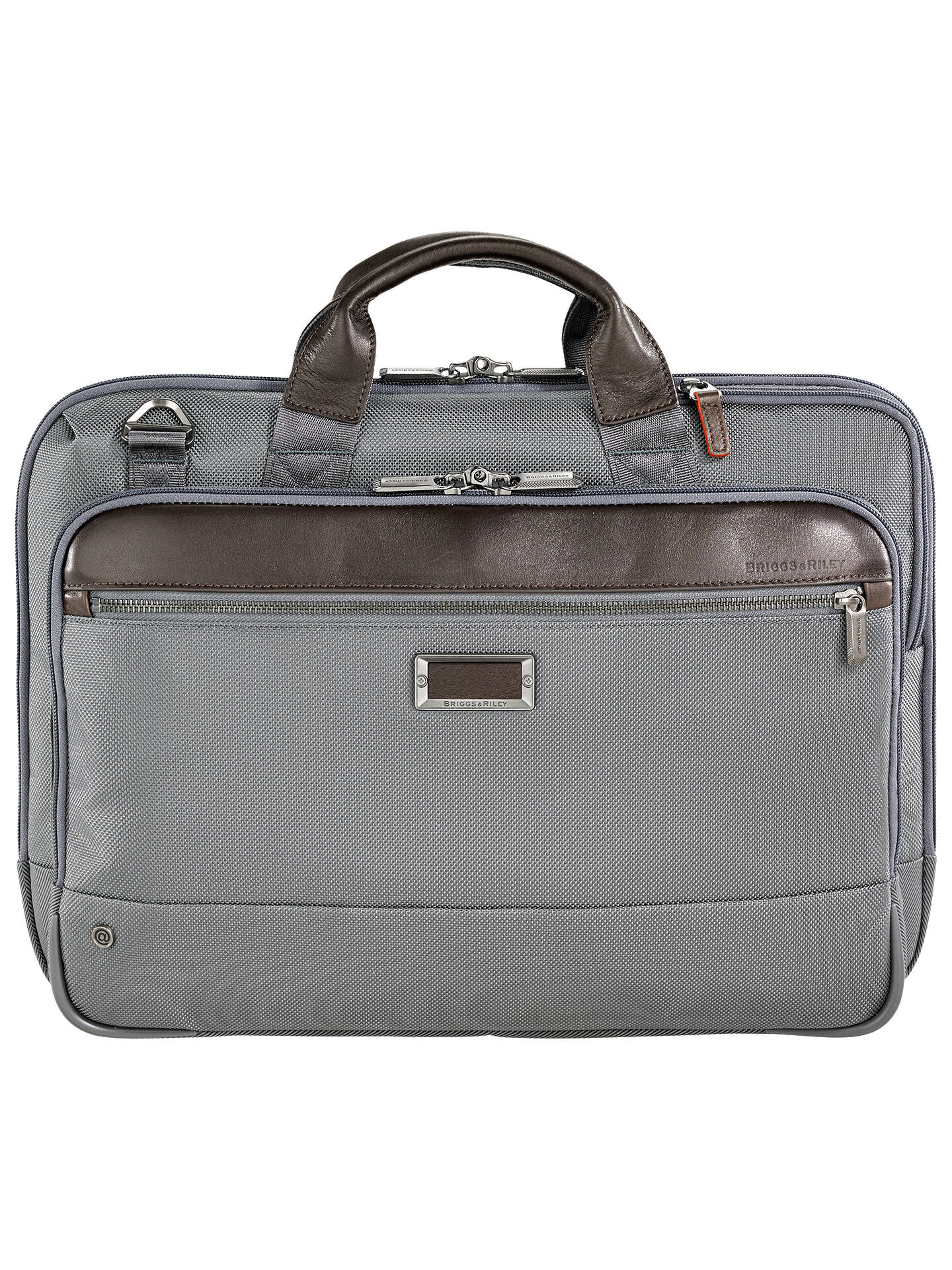 459c023654c5 Buy Briggs & Riley AtWork Slim Brief, Grey Online at johnlewis. ...