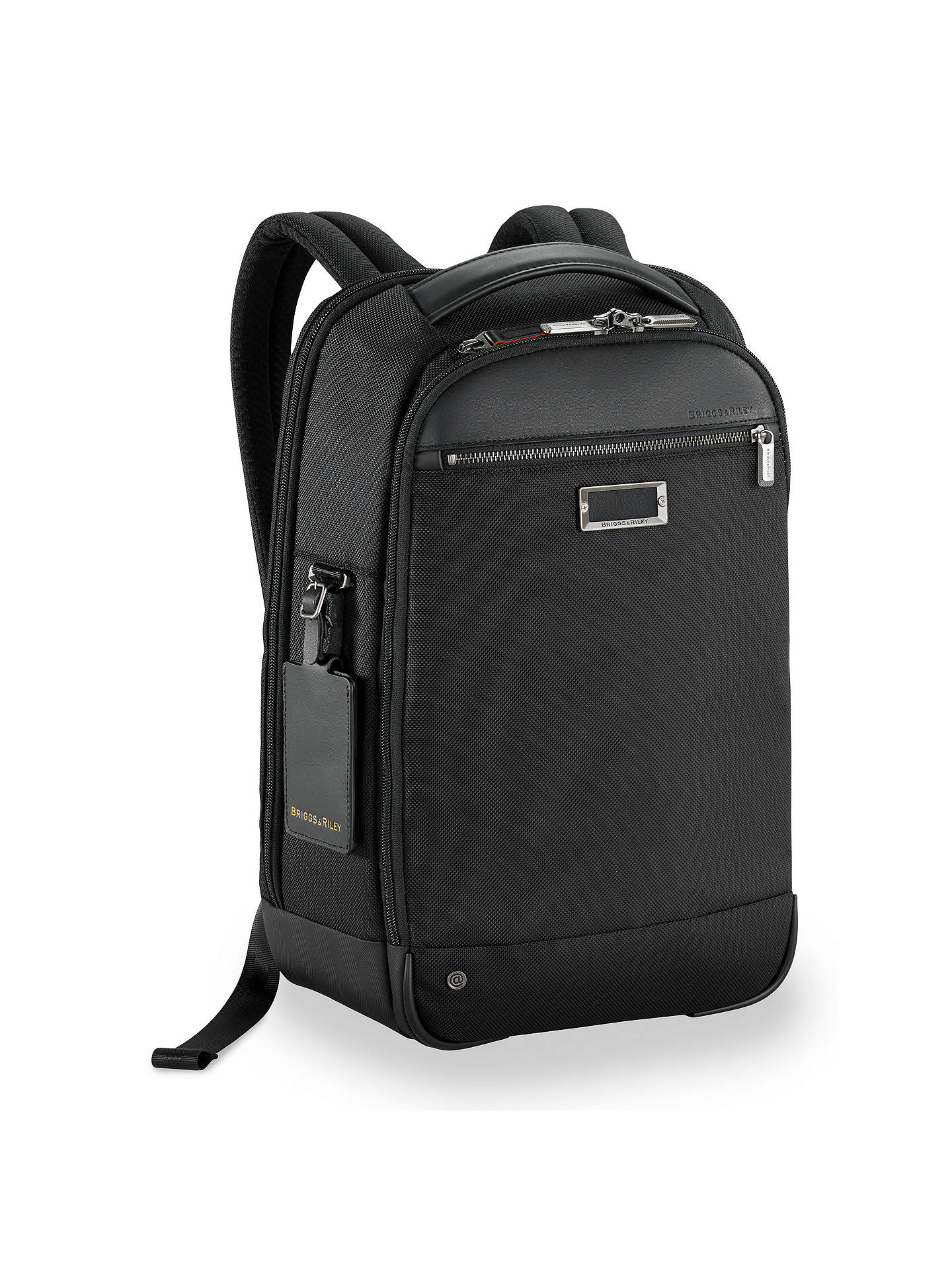 BuyBriggs & Riley AtWork Medium Slim Backpack, Black Online at johnlewis.com