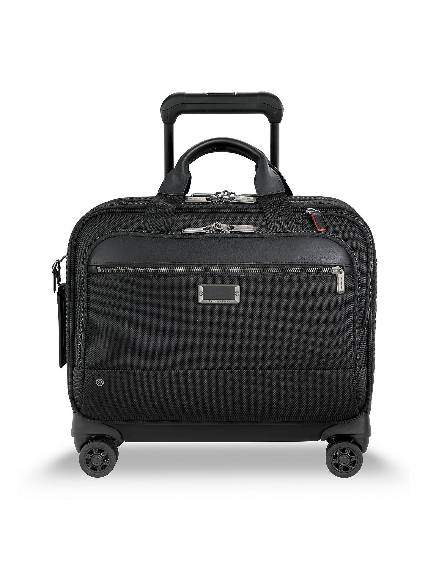 BuyBriggs & Riley AtWork Medium 4-Wheel Brief, Black Online at johnlewis.com