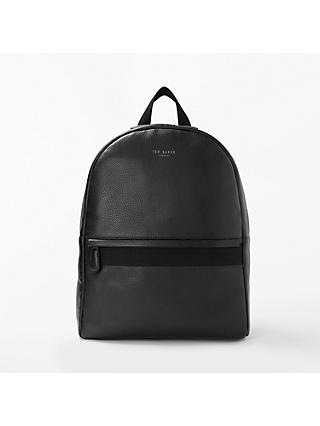 Ted Baker Rickrak Leather Backpack Black