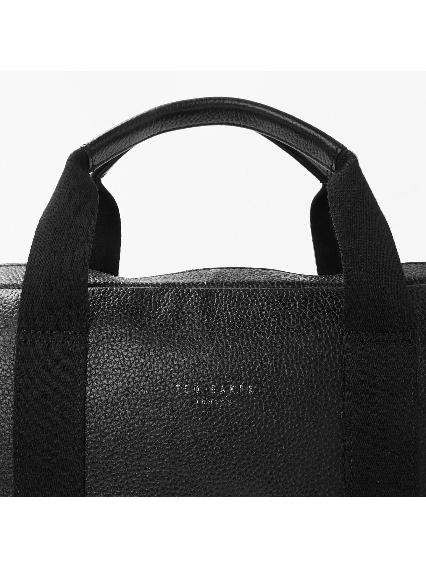 BuyTed Baker Importa Leather Document Bag, Black Online at johnlewis.com