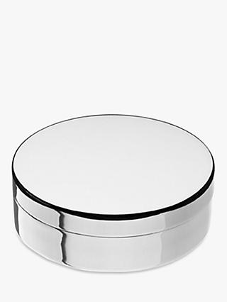 Links of London Sterling Silver Round Jewellery Trinket Box, Silver