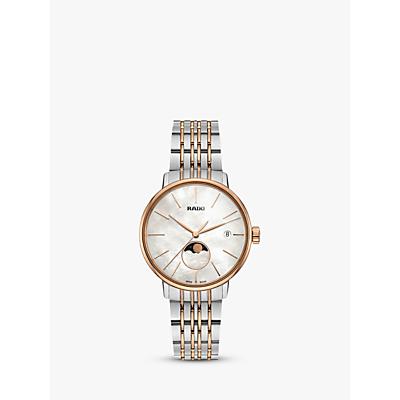 Rado R22883943 Unisex Coupole Classic Date Two Tone Bracelet Strap Watch, Silver/Gold