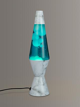 Lava® lamp Marble Table Lamp, Turquoise