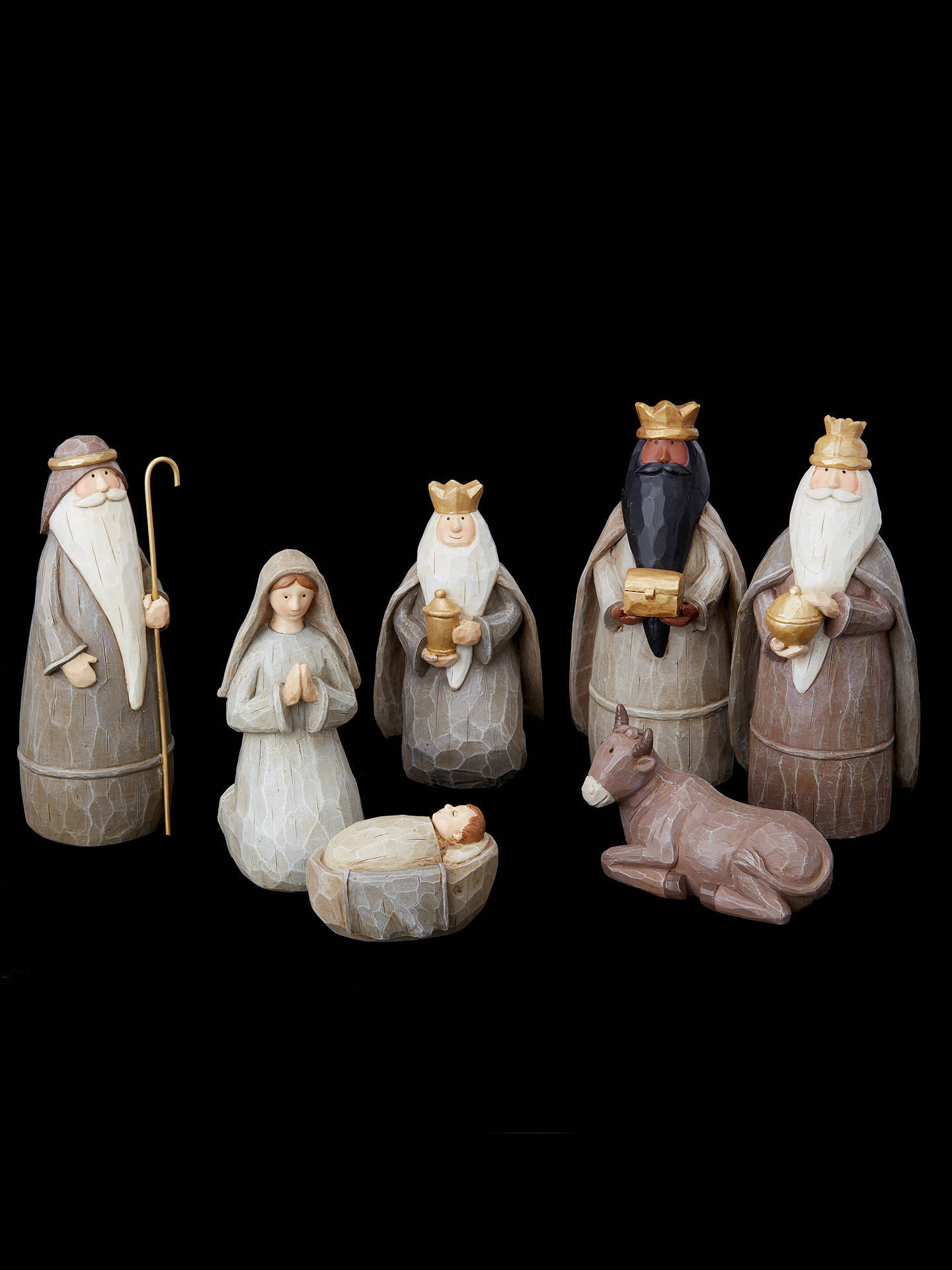 Buy John Lewis & Partners Contemporary Nativity Characters, Set of 7 Online at johnlewis.com