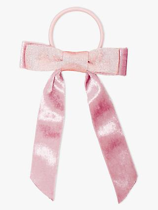 John Lewis Heirloom Collection Children's Ribbon Bow Hair Pony, Pink