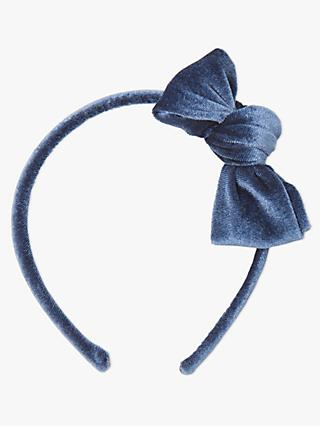 4cfa8979adf John Lewis   Partners Heirloom Collection Children s Velvet Bow Alice Head  Band