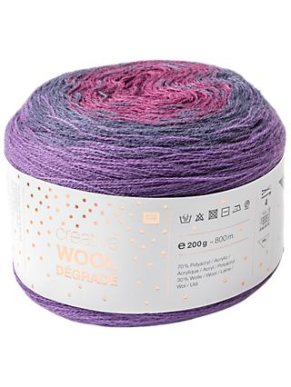 Rico Creative Wool Degrade 4 Ply Yarn, 200g