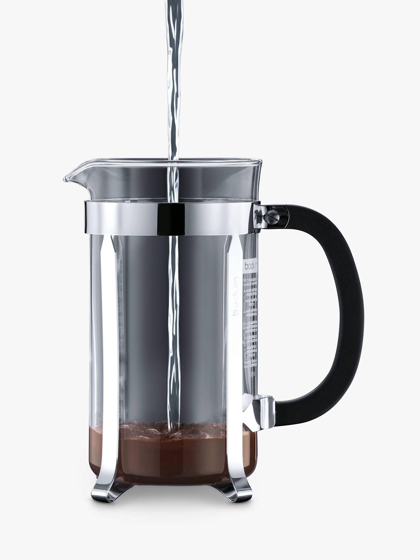 Buy BODUM 8 Cup Shatterproof Caffettiera, 1L, Red Online at johnlewis.com