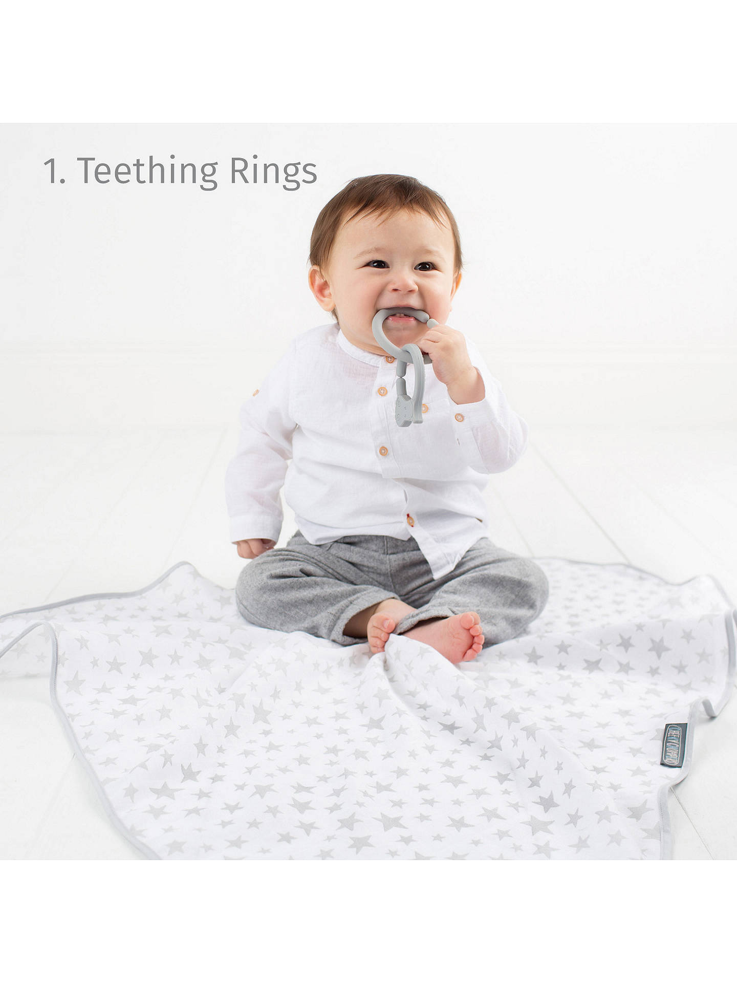 BuyCheeky Chompers Multimuslin, Breastfeeding Cover, 6 Clever Uses, Silver Stars Online at johnlewis.com