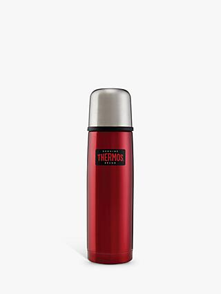 Thermos Light & Compact Stainless Steel Flask, 500ml, Red