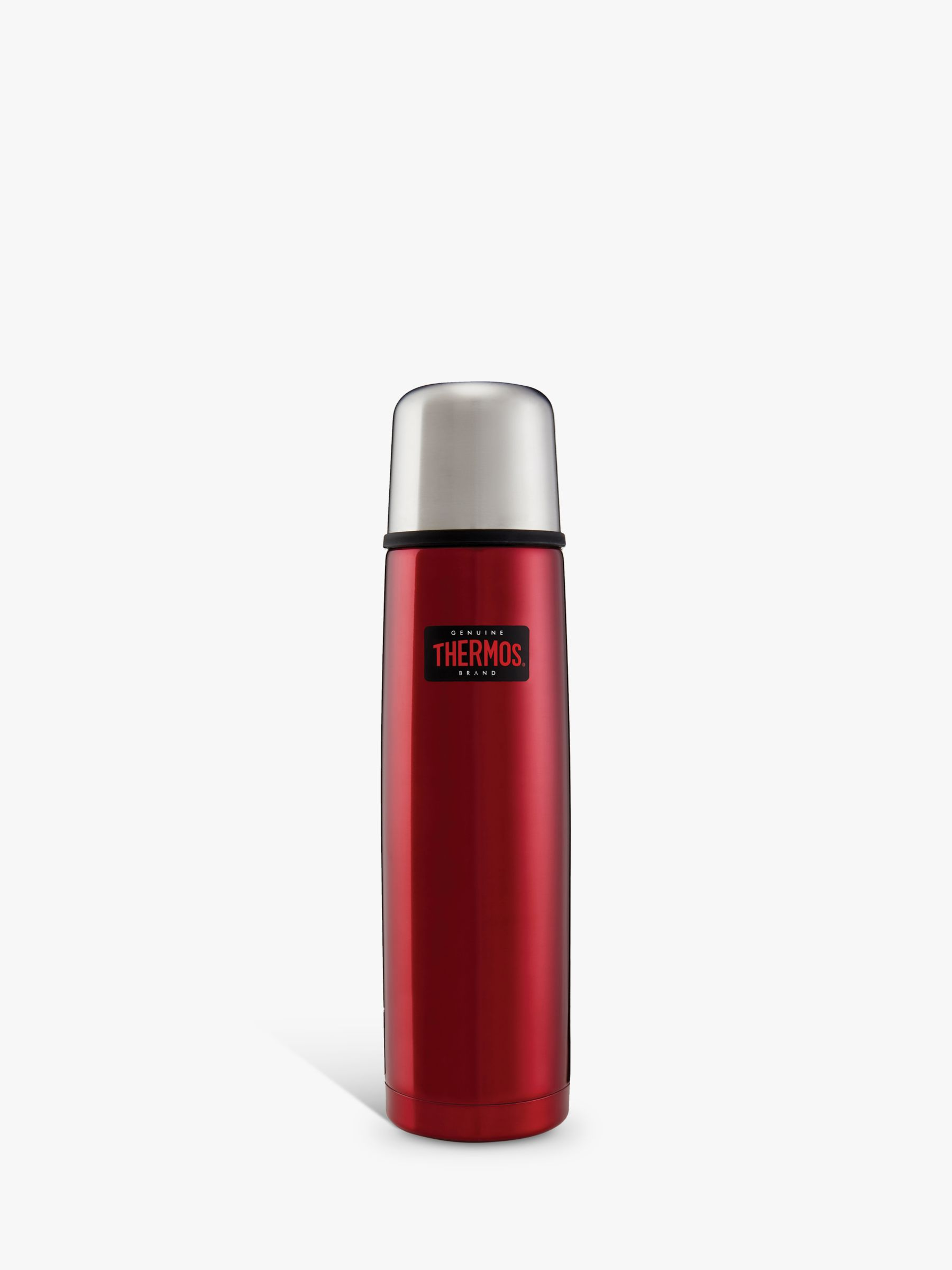 Thermos Thermos Light & Compact Stainless Steel Flask, 1L, Red