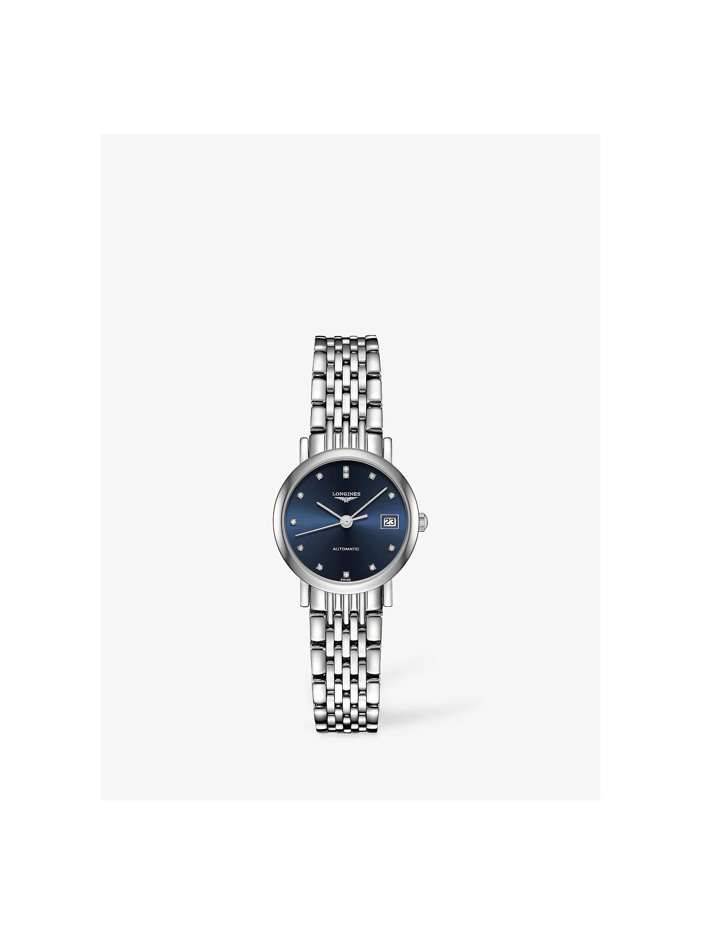 BuyLongines L43094976 Women s Elegant Automatic Diamond Date Bracelet Strap  Watch 0d096d4c46