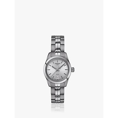 Tissot T1010101103100 Women's PR 100 Automatic Date Bracelet Strap Watch, Silver